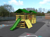 Illustration of play equipment in photograph