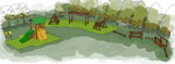 Illustration of outdoor play area