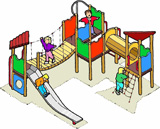 Simple illustration of play equipment
